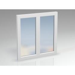 Окно ПВХ 2-секционное DEXEN 1000x1300 мм