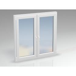 Окно ПВХ двухсекционное SALAMANDER 1850х890