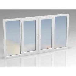 Окно ПВХ четырехсекционное ENWIN 2860х1470