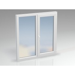Окно ПВХ двухсекционное BRUSBOX 1330x1430