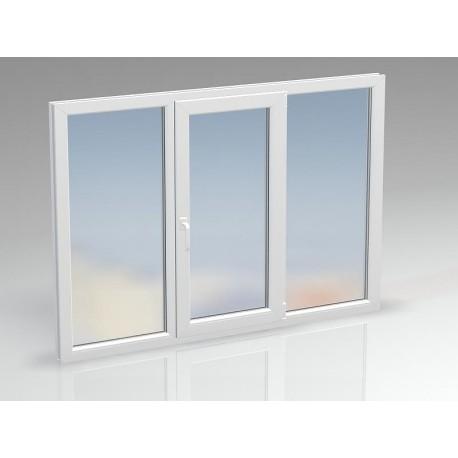 Окно ПВХ двухсекционное BRUSBOX 2020x1430