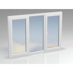 Окно ПВХ двухсекционное KBE 2020x1430