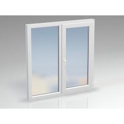 Окно ПВХ двухсекционное REHAU 1330x1430