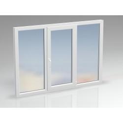 Окно ПВХ трёхсекционное DEXEN 2050х1400